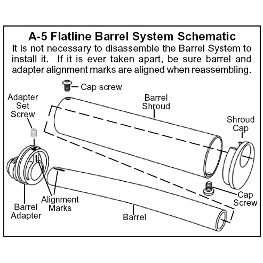 Tippmann A5 Flatline Barrel Repair Parts 98 Custom Diagram A 5