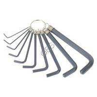 Inch Allen Hex Key Ring - 10 Piece Set