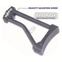 Skeleton Buttstock with Rear Velocity Adjuster [Fenix 2004, Raven Nexion, E99, Electra, VS, Pilot, TL-X, TL-R, Imagine, Espirit, Victor I, Victor II]