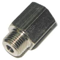 Metric Female to Standard Male Adapter - Silver
