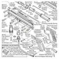 Tippmann A-5 H E-GRIP  Gun V090124 Diagram