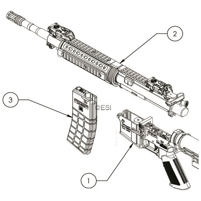 tippmann m4 carbine airsoft diagram