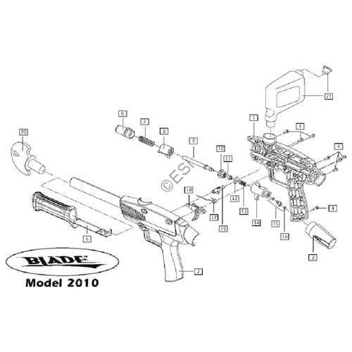 brass eagle blade 01 gun diagram