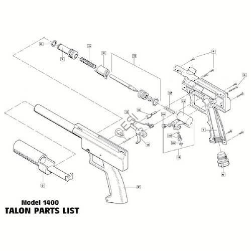 brass eagle talon gun diagram
