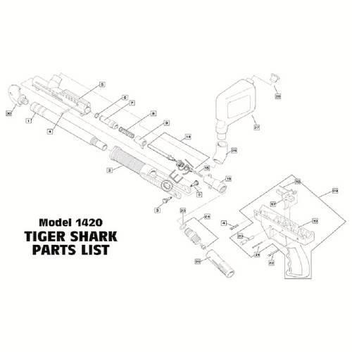 brass eagle tigershark gun diagram