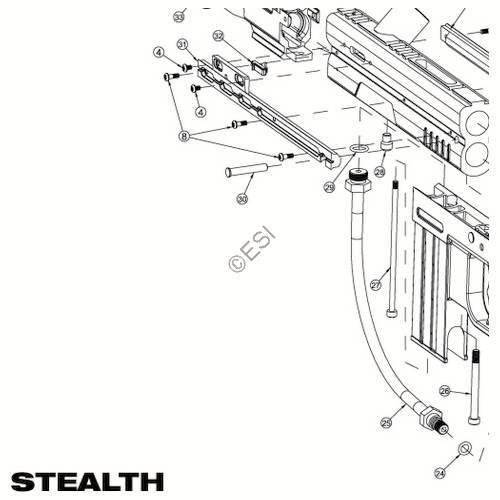 jt usa stealth gun diagram rh paintball parts com
