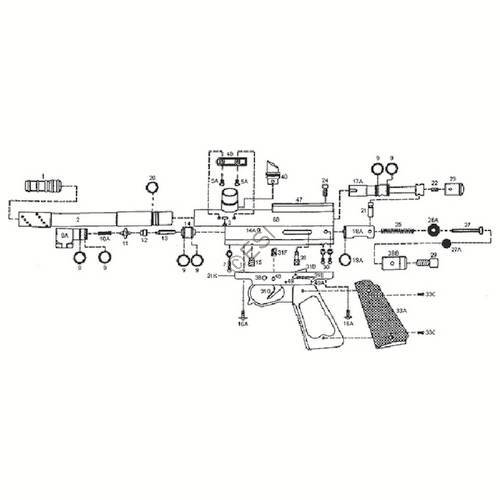 kingman spyder compact p gun diagram rh paintball parts com