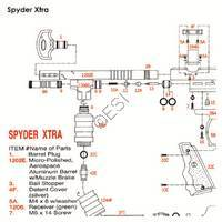 Kingman Spyder Xtra 03 Gun Diagram