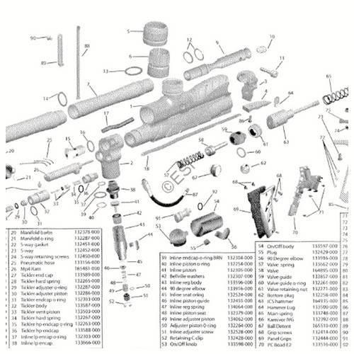 worr game products karnivor gun diagram