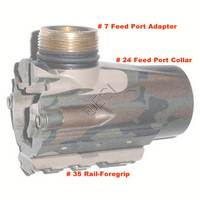 #24 or 11 Feedport Collar - Breech [Tac 5 Recon - Camo] 133871-000