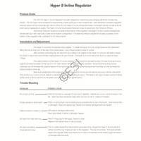 Dye Hyper2 Regulator Manual