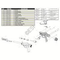 Brass Eagle Saber Twin Turbo Gun Diagram