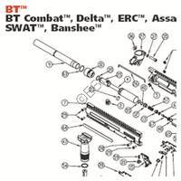 Empire BT 4 Gun - Combat, Delta, ERC, Assault, Iron Horse, SWAT, Banshee Diagram