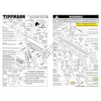 Tippmann 98 Custom Pro E-Grip ACT Gun Diagram