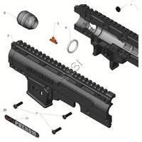 Tippmann X7 Phenom Gun Upper Receiver  V3 Diagram